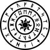 与古老北欧诗歌的圆环 库存照片