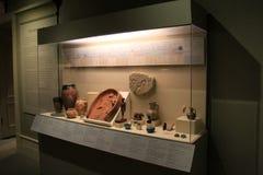 与古老埃及历史人工制品、学院和艺术,阿尔巴尼,纽约的大显示, 2016年 免版税图库摄影