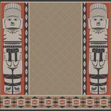 与古老美国装饰品的横幅 免版税库存照片
