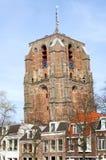 与古老高耸的城市视图吕伐登 库存图片