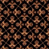 与古铜色梯度装饰装饰品的豪华无缝的样式在黑背景 向量例证
