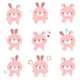 与另外情感动画片传染媒介的兔子 库存照片