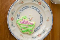 与叮咬的曲奇饼饼干 免版税库存照片
