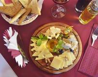 与可口乳酪集合的静物画 库存照片