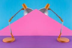 与台灯的抽象拼贴画 免版税库存图片