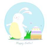 与台车的兔子 库存图片