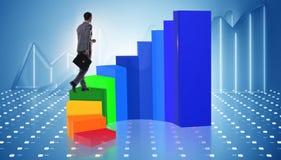 与台阶的职业培训在企业概念 免版税图库摄影