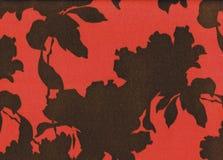 与叶子和花剪影的抽象底部  图库摄影