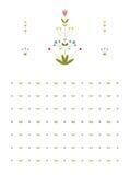 花卉样式 免版税库存照片