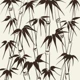 与叶子样式的竹子。 皇族释放例证