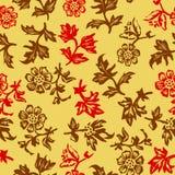 与叶子的华丽无缝的样式 免版税库存图片