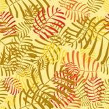 与叶子的无缝的时髦样式设计 免版税库存图片