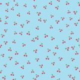 与叶子的无缝的样式樱桃在迷离柔和的淡色彩背景 免版税图库摄影