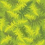 与叶子的无缝的纹理 免版税库存照片