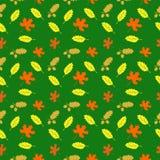 与叶子的模式 免版税库存照片