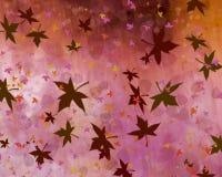 与叶子的温暖的背景 免版税库存图片