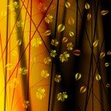 与叶子的秋天灌木 库存照片