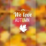 与叶子的秋天秋天被弄脏的背景 免版税库存图片