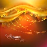 与叶子的秋天背景 图库摄影