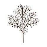 与叶子的简单的树 免版税库存照片