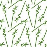 与叶子的绿色竹分支在白色背景无缝的p 向量例证