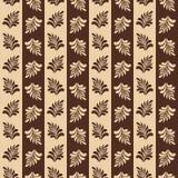 与叶子的美好的无缝的样式 也corel凹道例证向量 皇族释放例证
