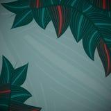 与叶子的艺术花卉背景 免版税库存图片