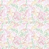 与叶子的花卉无缝的样式。 免版税库存图片