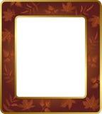 与叶子的花卉框架 也corel凹道例证向量 免版税图库摄影