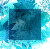 与叶子的花卉模式 免版税库存照片