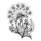 与叶子的装饰花 免版税库存图片