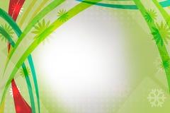 与叶子的绿色和红色波浪,抽象背景 免版税图库摄影