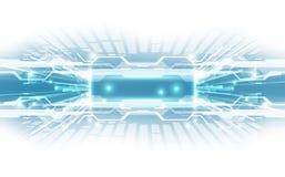 与各种各样的技术元素的抽象技术背景概念 例证传染媒介 免版税库存图片