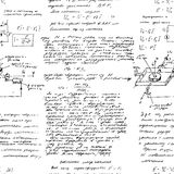 与各种各样的操作手写的算术无缝的样式  免版税库存图片