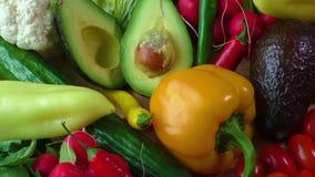 与各种各样的新鲜的有机菜的静物画 影视素材