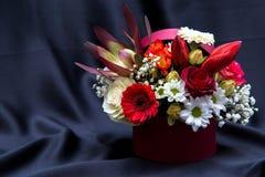 与各种各样的春天花的植物布置 免版税库存照片