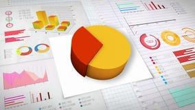 40%与各种各样的经济财务图表的圆形统计图表 (没有文本) 向量例证