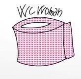 与吉祥人和象的妇女wc幽默漫画 库存例证
