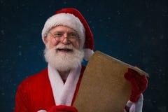 与名字名单的圣诞老人 免版税图库摄影