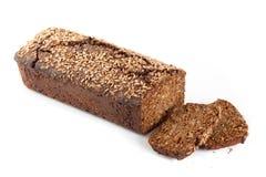 与向日葵种子的黑麦面包 免版税库存照片