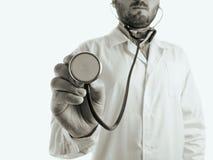 医治与听诊器2 图库摄影