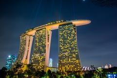 与周围的新加坡飞行物 图库摄影