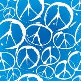 与和平的符号的无缝的模式 免版税库存图片