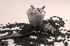 与咖啡口味的鸡尾酒 免版税库存图片