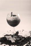 与咖啡口味的鸡尾酒 免版税图库摄影
