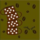 与咖啡杯的传染媒介无缝的样式 向量例证