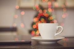 与咖啡杯的静物画 库存照片