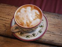 与咖啡的早晨好 库存照片
