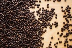 与咖啡豆上面的背景 库存图片