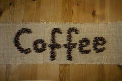 词咖啡 免版税库存图片